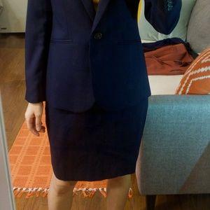 J. Crew 120's wool Suit Pencil Skirt (00P)